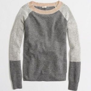 J.Crew Warmspun Colorblock Sweater